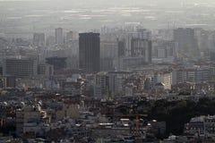 Εναέρια άποψη των σπιτιών της Βαρκελώνης Στοκ φωτογραφία με δικαίωμα ελεύθερης χρήσης
