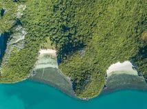Εναέρια άποψη των τροπικών νησιών στο εθνικό θαλάσσιο πάρκο Angthong στην Ταϊλάνδη Στοκ Φωτογραφία