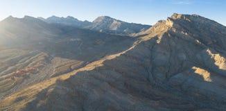 Εναέρια άποψη των όμορφων βουνών κοντά στο Λας Βέγκας, Νεβάδα στοκ εικόνες