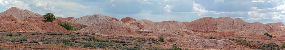 Εναέρια άποψη των opal τομέων Andamooka, Νότια Αυστραλία Στοκ Εικόνα
