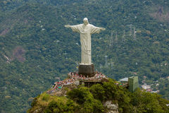 Εναέρια άποψη Χριστού η πλατφόρμα αγαλμάτων απελευθερωτών Στοκ εικόνα με δικαίωμα ελεύθερης χρήσης