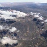 Εναέρια άποψη Arequipa από το αεροπλάνο στο Περού Στοκ Εικόνες