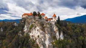 Εναέρια άποψη Blejski Grad στοκ φωτογραφία με δικαίωμα ελεύθερης χρήσης