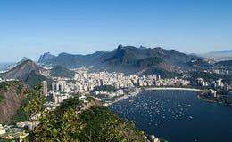 Εναέρια άποψη Botafogo από τη φραντζόλα ζάχαρης Στοκ Φωτογραφία