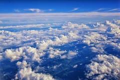 Εναέρια άποψη Cloudscape πέρα από midwest τα κράτη στην πτήση πέρα από το Κολοράντο, το Κάνσας, το Μισσούρι, το Ιλλινόις, τη Ιντι στοκ εικόνα με δικαίωμα ελεύθερης χρήσης