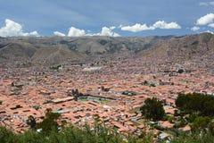 Εναέρια άποψη Cusco Περού Στοκ φωτογραφία με δικαίωμα ελεύθερης χρήσης