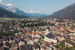 Εναέρια άποψη garmisch-Partenkirchen στοκ φωτογραφίες