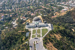 Εναέρια άποψη Griffith του παρατηρητήριου στο Λος Άντζελες στοκ φωτογραφία με δικαίωμα ελεύθερης χρήσης