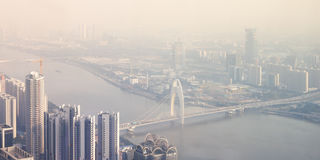 Εναέρια άποψη Guangzhou Στοκ Εικόνες