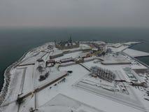 Εναέρια άποψη Kronborg Castle, χειμώνας της Δανίας στοκ φωτογραφίες με δικαίωμα ελεύθερης χρήσης