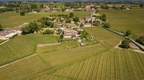 Εναέρια άποψη Montagne Άγιος-Emilion, Aquitaine, Μπορντώ Wineyard στοκ φωτογραφία με δικαίωμα ελεύθερης χρήσης