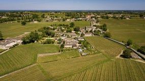 Εναέρια άποψη Montagne Άγιος-Emilion, Aquitaine, Μπορντώ Wineyard στοκ εικόνες με δικαίωμα ελεύθερης χρήσης