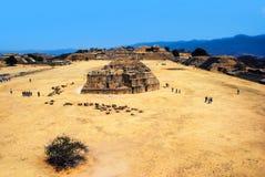 Εναέρια άποψη Monte Alban Ruins, Oaxaca, Μεξικό Στοκ Φωτογραφίες