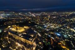 Εναέρια άποψη Parthenon και της ακρόπολη στην Αθήνα Στοκ φωτογραφίες με δικαίωμα ελεύθερης χρήσης