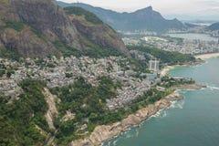 Εναέρια άποψη Rocinha Favelas Στοκ φωτογραφία με δικαίωμα ελεύθερης χρήσης