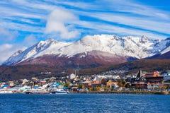 Εναέρια άποψη Ushuaia, Αργεντινή Στοκ Εικόνες