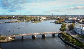 Εναέρια άποψη Vyborg, Ρωσία Στοκ Φωτογραφία