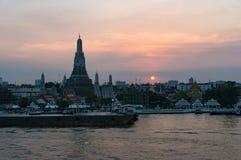 Εναέρια άποψη Wat Arun, ναός της Dawn Στοκ εικόνα με δικαίωμα ελεύθερης χρήσης