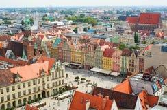 Εναέρια άποψη Wroclaw στοκ εικόνα