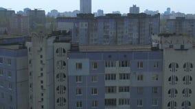 Εναέρια έρευνα Εικονική παράσταση πόλης, παλαιά αρχιτεκτονική απόθεμα βίντεο