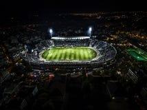 Εναέρια αιθάλη του συνόλου σταδίων Toumba των ανεμιστήρων κατά τη διάρκεια ενός ποδοσφαίρου Στοκ εικόνες με δικαίωμα ελεύθερης χρήσης