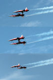 Εναέρια ακροβατική επίδειξη σε Air14 Payerne, Ελβετία Στοκ Εικόνες