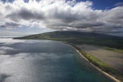 εναέρια ακτή Χαβάη Maui στοκ εικόνες με δικαίωμα ελεύθερης χρήσης