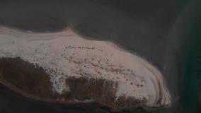 Εναέρια αμμώδης παραλία άποψης της θάλασσας απόθεμα βίντεο