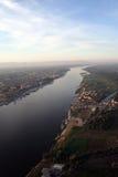 εναέρια ανυψωμένη όψη ποταμώ& Στοκ φωτογραφία με δικαίωμα ελεύθερης χρήσης