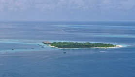 Εναέρια βιόσφαιρα των Μαλδίβες εικόνας ατολλών Baa Στοκ Εικόνες