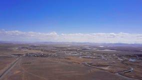 Εναέρια βουνά Altai ερευνών Όμορφο τοπίο ορεινών περιοχών Ρωσία Σιβηρία Τοπ όψη απόθεμα βίντεο