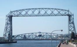 Εναέρια γέφυρα ανελκυστήρων Duluth Στοκ Φωτογραφία