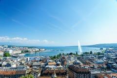 εναέρια Γενεύη Ελβετία Στοκ Εικόνα