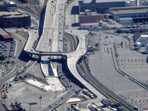 Εναέρια εθνική οδός, διαδρομές τραίνων και νέες σήραγγες Στοκ εικόνα με δικαίωμα ελεύθερης χρήσης