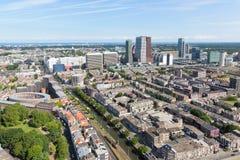 Εναέρια εικονική παράσταση πόλης της Χάγης, πόλη των Κάτω Χωρών Στοκ φωτογραφίες με δικαίωμα ελεύθερης χρήσης
