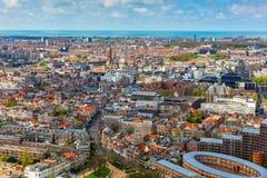 Εναέρια εικονική παράσταση πόλης της Χάγης Χάγη Στοκ Φωτογραφίες