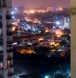 Εναέρια εικονική παράσταση πόλης του Δελχί πυροβολισμών gurgaon Στοκ Φωτογραφία