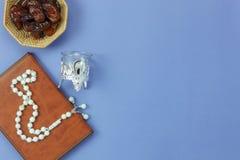 Εναέρια εικόνα άποψης επιτραπέζιων κορυφών του υποβάθρου διακοπών Ramadan Kareem διακοσμήσεων Στοκ Φωτογραφίες