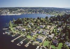 Εναέρια εικόνα της περιοχής Bellevue στο Σιάτλ, Ουάσιγκτον στοκ εικόνες