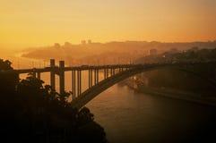 Εναέρια εικόνα της Πορτογαλίας, Πόρτο, γέφυρα Arrabida Στοκ φωτογραφίες με δικαίωμα ελεύθερης χρήσης