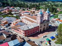 Εναέρια εικόνα Iglesia de Σαν Φρανσίσκο de Sinincay Στοκ φωτογραφία με δικαίωμα ελεύθερης χρήσης