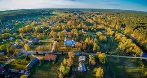 Εναέρια επαρχία Λιθουανία πανοράματος Στοκ Εικόνες