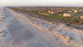Εναέρια θέρετρα του ST Augustine beachfront απόθεμα βίντεο