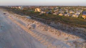Εναέρια θέρετρα 3 του ST Augustine beachfront απόθεμα βίντεο
