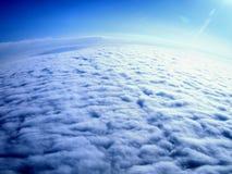 εναέρια καλυμμένη σύννεφα γήινη όψη Στοκ φωτογραφία με δικαίωμα ελεύθερης χρήσης