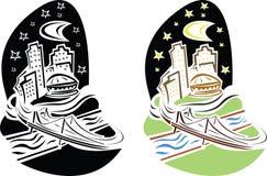 εναέρια κωμική απεικόνιση Νέα Ορλεάνη Στοκ εικόνες με δικαίωμα ελεύθερης χρήσης