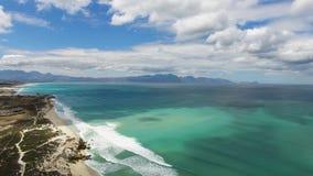 Εναέρια νοτιοαφρικανική παραλία απόθεμα βίντεο