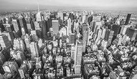 εναέρια οικοδόμησης πόλεων υποστηριγμένη κράτος κορυφαία όψη Υόρκη φωτογραφιών αυτοκρατοριών νέα Στοκ Φωτογραφίες