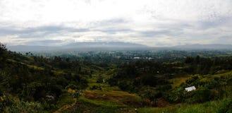 Εναέρια πανοραμική άποψη για να τοποθετήσει την πόλη της χάγης, Παπούα Νέα Γουϊνέα Στοκ Φωτογραφία