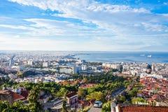 Εναέρια πανοραμική άποψη Θεσσαλονίκης στοκ εικόνες